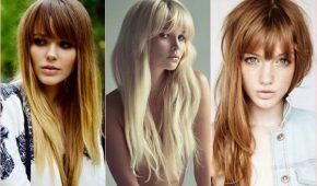 Миниатюра к статье Модные стрижки 2017: фото на длинные волосы с челкой — женщинам за 30 лет