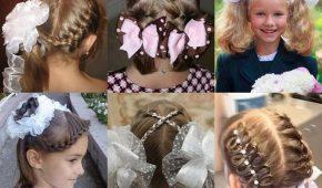 Миниатюра к статье Красивые причёски на 1 сентября на средние волосы: фото от 1 до 11 класса